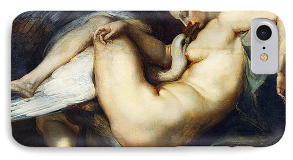 Leda And The Swan IPhone Case by Peter Paul Rubens