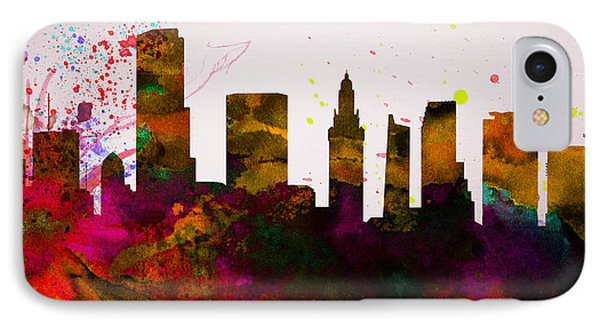 Miami City Skyline IPhone Case by Naxart Studio