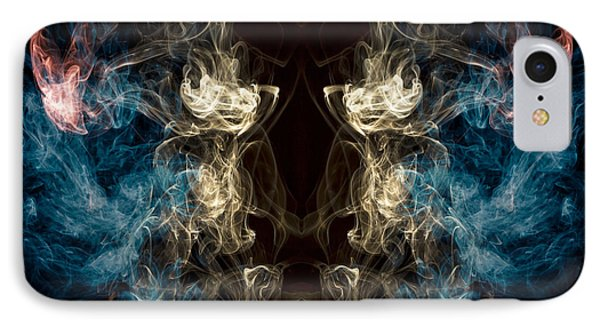 Minotaur Smoke Abstract IPhone 7 Case by Edward Fielding