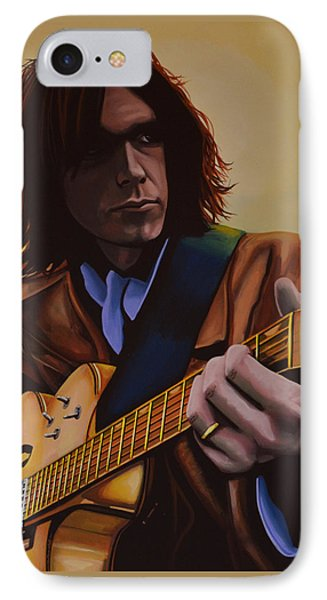 Neil Young Painting IPhone Case by Paul Meijering