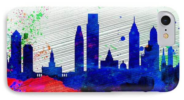 Philadelphia City Skyline IPhone Case by Naxart Studio