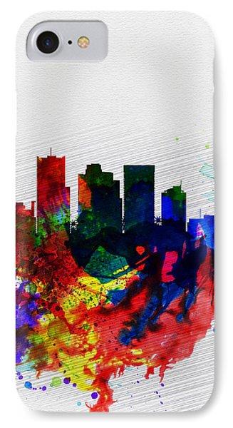 Phoenix Watercolor Skyline 2 IPhone 7 Case by Naxart Studio