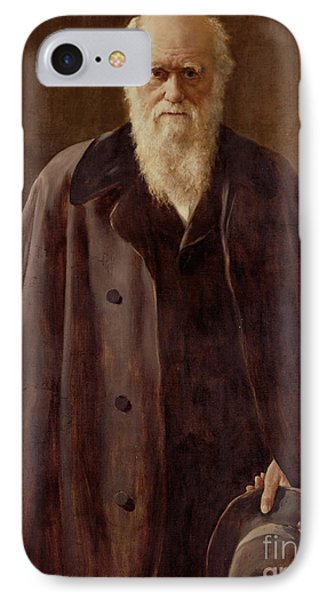 Portrait Of Charles Darwin IPhone Case by John Collier