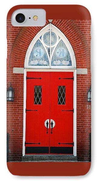 Red Door IPhone Case by Francie Davis