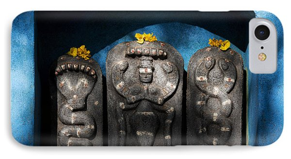 Rural Indian Hindu Shrine  IPhone Case by Tim Gainey