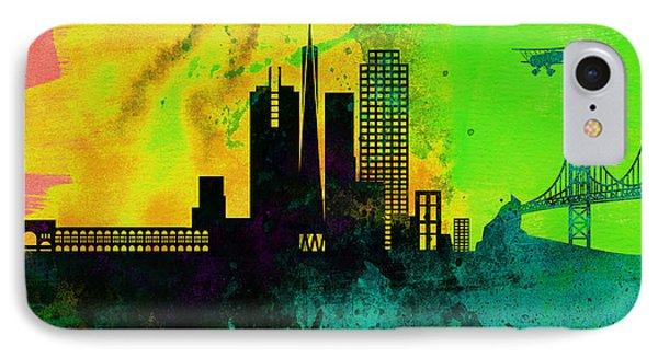 San Francisco City Skyline IPhone Case by Naxart Studio
