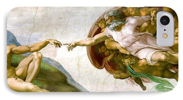 The Creation Of Adam IPhone Case by Michelangelo di Lodovico Buonarroti Simoni