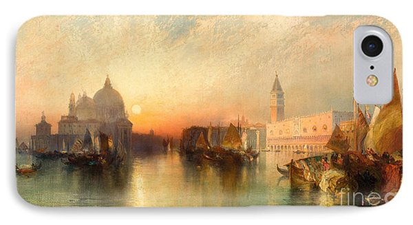 View Of Venice IPhone Case by Thomas Moran
