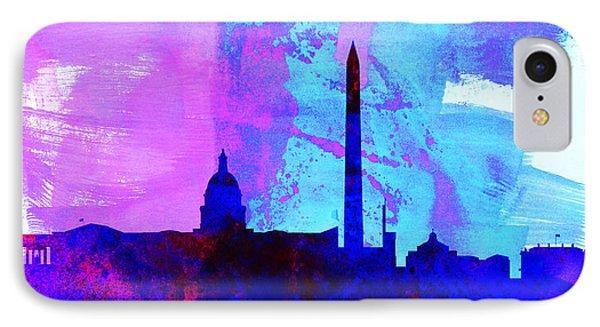 Washington Dc City Skyline IPhone Case by Naxart Studio