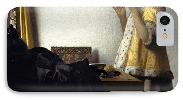 Young Woman With A Pearl Necklace Phone Case by Johannes Vermeer