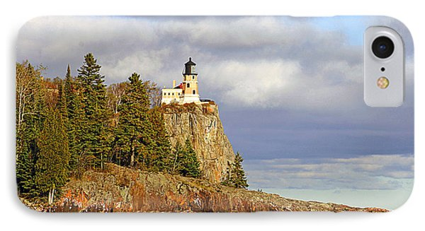 0376 Split Rock Lighthouse IPhone Case by Steve Sturgill