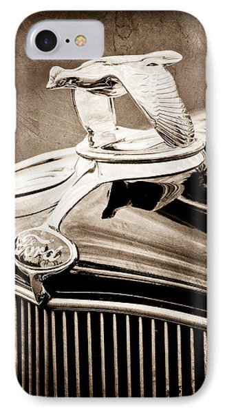 1932 Ford V8 Hood Ornament - Emblem IPhone Case by Jill Reger