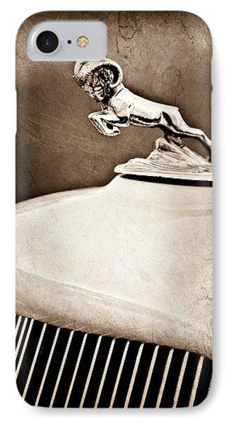 1933 Dodge Ram Hood Ornament - Grille IPhone Case by Jill Reger