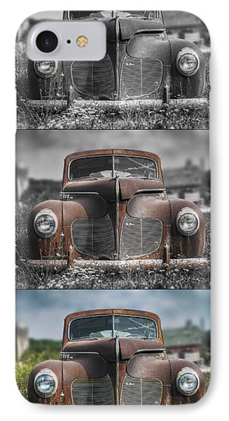 1940 Desoto Deluxe Triptych IPhone Case by Scott Norris