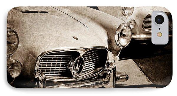 1960 Maserati Grille Emblem Phone Case by Jill Reger