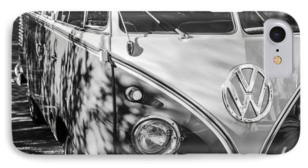 1961 Volkswagen Vw 23-window Deluxe Station Wagon Emblem IPhone Case by Jill Reger