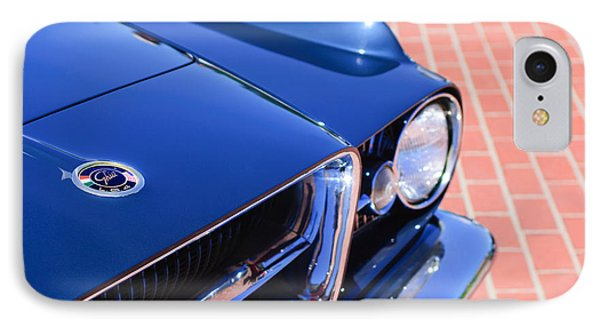 1962 Ghia L6.4 Coupe Grille Emblem Phone Case by Jill Reger