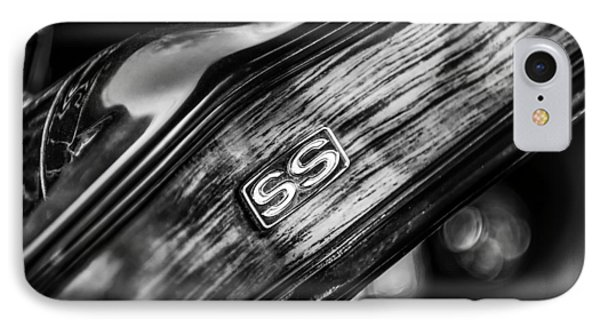 1969 Chevrolet Camaro Rs-ss Indy Pace Car Replica Steering Wheel Emblem IPhone Case by Jill Reger