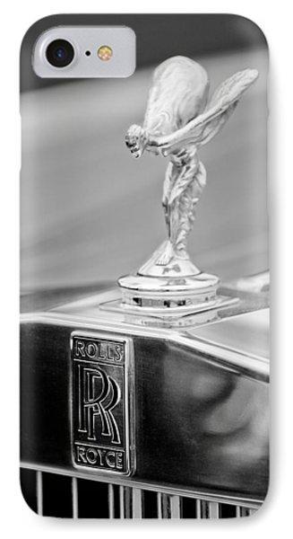 1984 Rolls-royce Silver Spur Hood Ornament Phone Case by Jill Reger