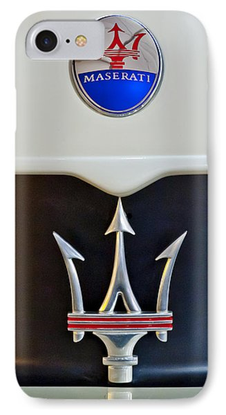 2005 Maserati Mc12 Hood Emblem IPhone Case by Jill Reger