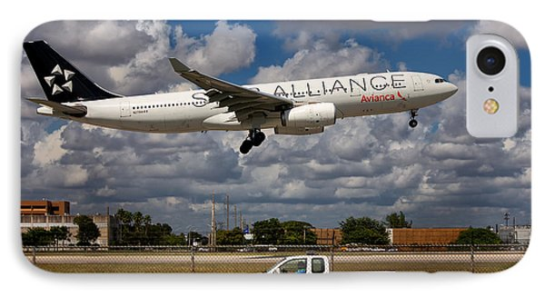 Avianca A-330 Airbus  IPhone Case by Rene Triay Photography