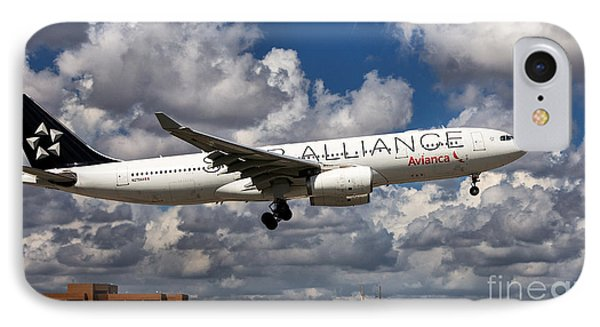 Airbus A-330 Avianca Airlines IPhone Case by Rene Triay Photography