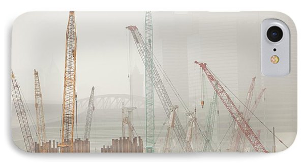A Construction Site In Hong Kong IPhone Case by Ashley Cooper