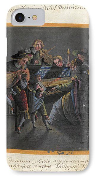 A Group Of Musicians IPhone Case by British Library