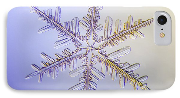 A Real Snowflake Showing The Classic Phone Case by Marion Owen