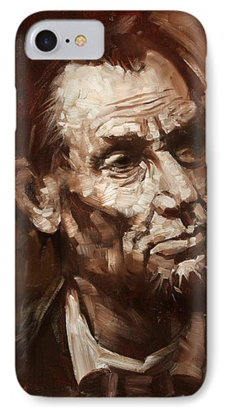 Abraham Lincoln IPhone 7 Case by Ylli Haruni