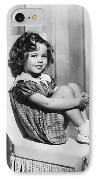 Actress Shirley Temple IPhone Case by Underwood Archives