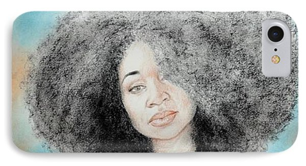Aevin Dugas Holder Of The Guinness Book Of World Records For The Biggest Afro Phone Case by Jim Fitzpatrick