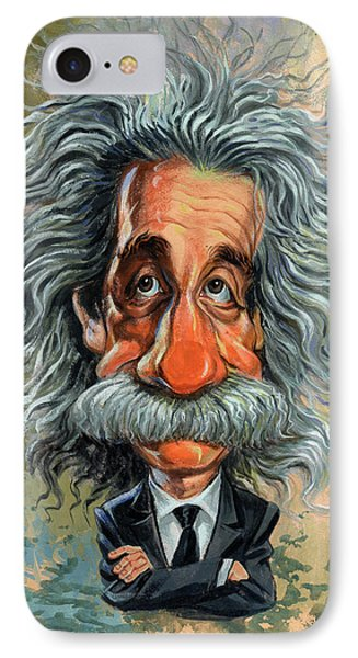 Albert Einstein IPhone Case by Art