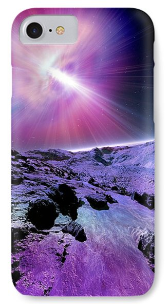 Alien Planet And Pulsar IPhone Case by Detlev Van Ravenswaay