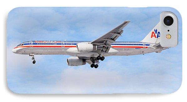 Amercian Airlines Boeing 757 Airplane Landing IPhone Case by Paul Velgos