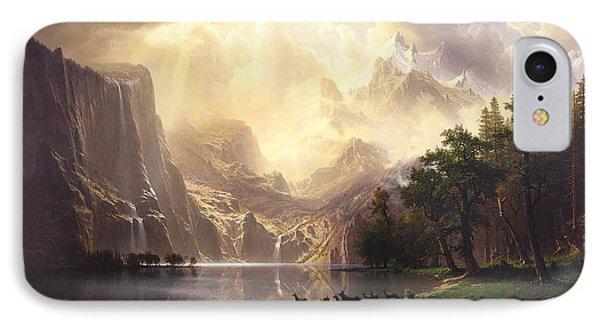 Among The Sierra Nevada Mountains California IPhone Case by Albert Bierstadt