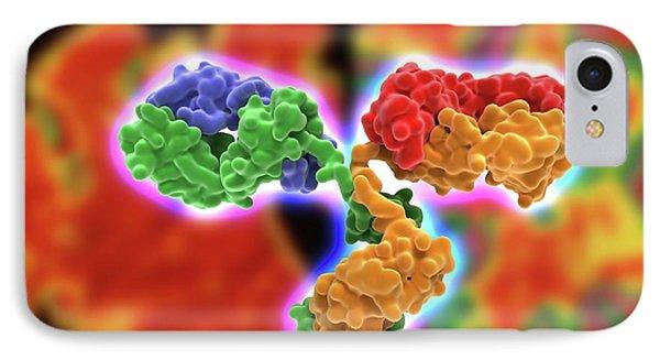 Antibody Alzheiimer's Treatment IPhone Case by Alfred Pasieka