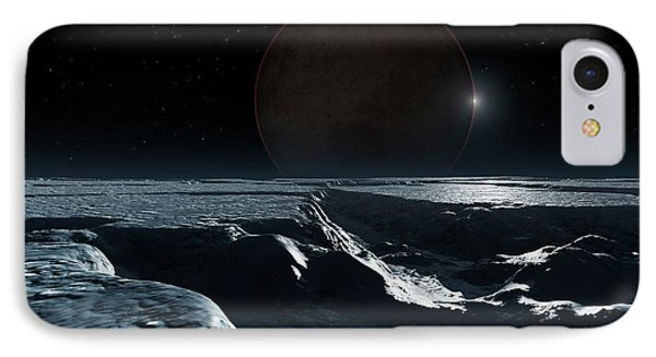 Artwork Of Pluto Seen From Charon IPhone Case by Mark Garlick