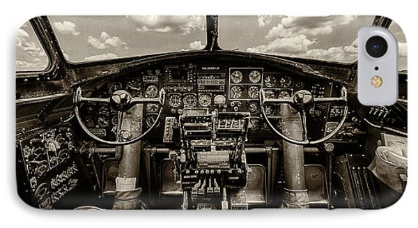 Cockpit Of A B-17 IPhone Case by Mike Burgquist