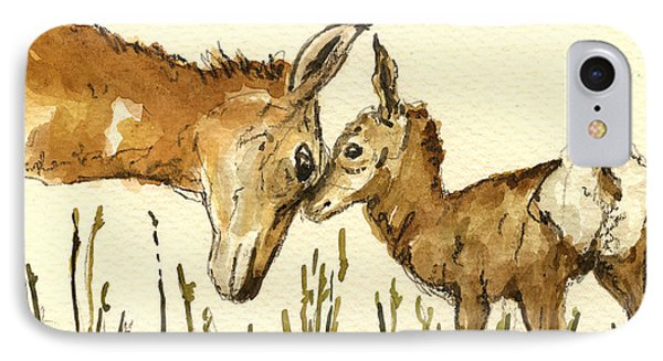 Bambi Deer IPhone Case by Juan  Bosco