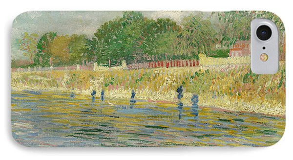 Bank Of The Seine IPhone Case by Vincent van Gogh