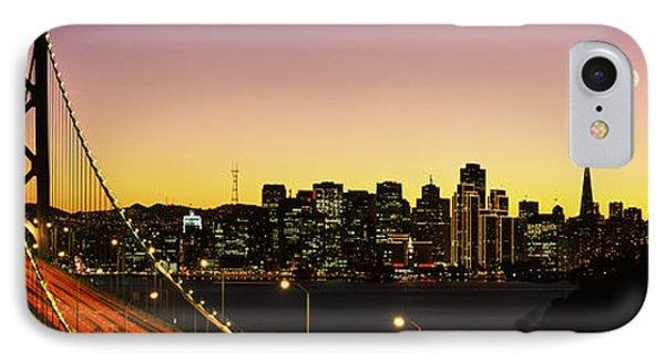 Bay Bridge San Francisco Ca Usa IPhone Case by Panoramic Images