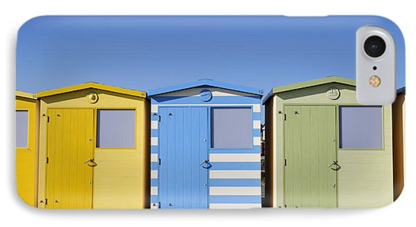 Beach Huts At Seaford In East Sussex In England IPhone Case by Robert Preston
