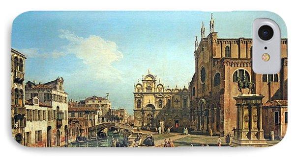 Bellotto's The Campo Di Ss. Giovanni E Paolo In Venice IPhone Case by Cora Wandel