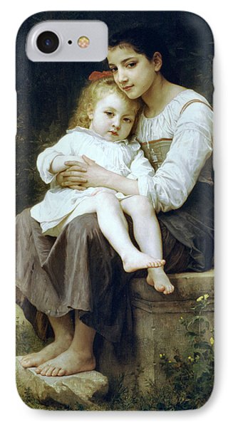 Big Sister Phone Case by William Bouguereau