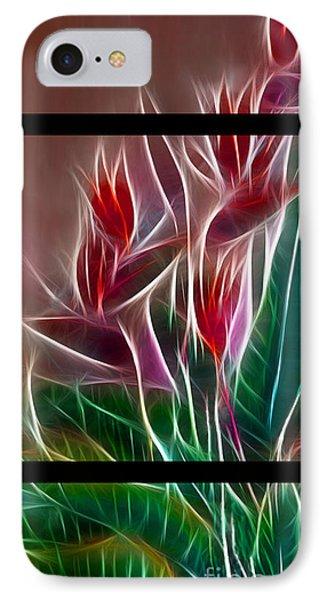 Bird Of Paradise Fractal IPhone Case by Peter Piatt