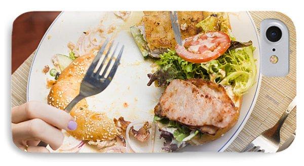 Bistro Patron Halfway Through Chicken Salad Bagel IPhone Case by Jorgo Photography - Wall Art Gallery