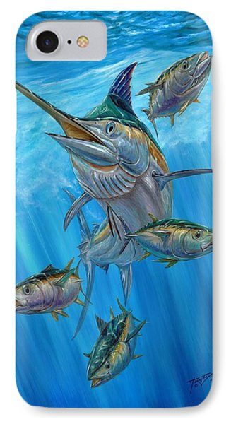 Black Marlin And Albacore IPhone Case by Terry Fox