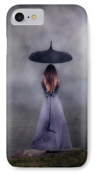 Black Umbrella IPhone Case by Joana Kruse