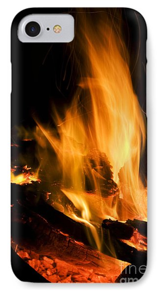 Blazing Campfire IPhone Case by Jorgo Photography - Wall Art Gallery